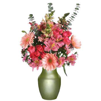 Holiday Cheer Pink Easter Flower Bouquet