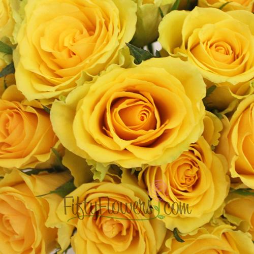 Idole Yellow Bulk Roses
