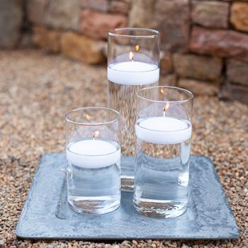 Dozen Cylinder Glass Vases 10.5 Inches High