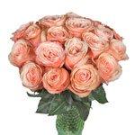Kahala Peach Wholesale Roses In a vase