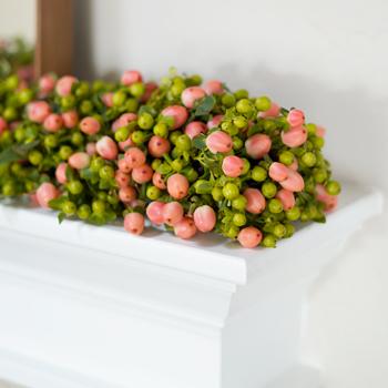 Pink Spring Hypericum Garland