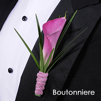 Mini Calla Lily Pink Boutonniere and Corsage Pack