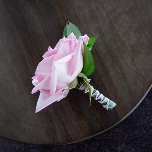 Modern Light Pink Rose Boutonnieres