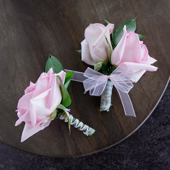 Modern Light Pink Boutonniere and Corsage Pack