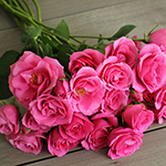 Lovely Lydia Dark Pink Rose Bunch
