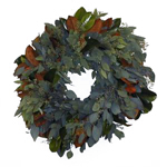Magnolia Seeded Eucalyptus Bay Leaf Fresh Wreath