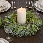 Mixed Eucalyptus Bayleaf Wreath for Weddings