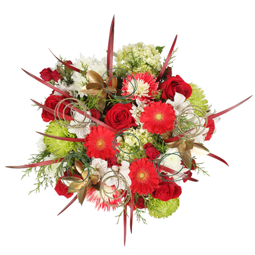 Modern Christmas Wedding Table Arrangement