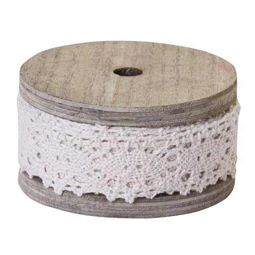 OASIS™ Cluny Lace, Antique White, 1.25 Inch