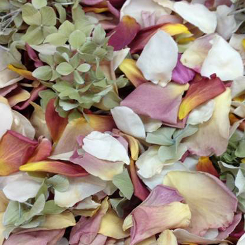 Outdoor Wedding Freeze Dried Petals
