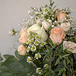 Perfectly Peach Rustic Flower Table Centerpiece