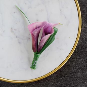 Plum Purple Mini Calla Lily Corsages Fiftyflowers Com
