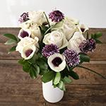 Purple Velvet Mini Calla Lilies Table Centerpieces