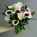 Purple Velvet Mini Calla Lilies Flower Bouquet