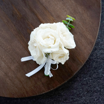 Ivory Spray Rose Corsages