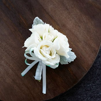 Vintage White Spray Rose Corsages