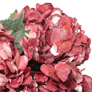 Glitzy Red Airbrushed Hydrangea