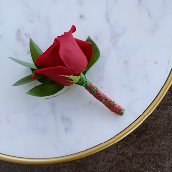 Modern Red Rose Boutonnieres