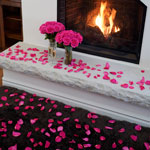 Valentines Day Roses and Rose Petals