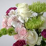White Rose Wedding Pastel Centerpieces