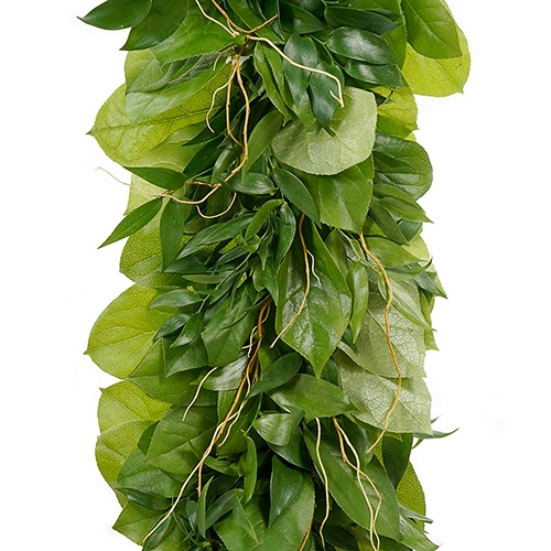 Salal and Italian Ruscus Greens with Curly Tips Garland