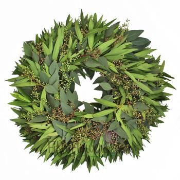 Bay Leaf and Seeded Eucalyptus Wreaths