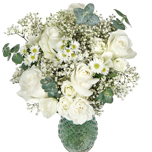 Snow White Flower Centerpiece