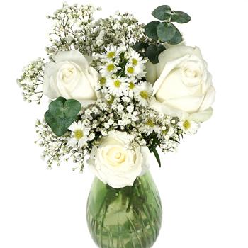 225 & Snow White Flower Centerpiece
