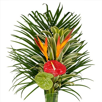 Jungle Hideaway Tropical Centerpiece