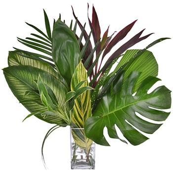 Jungle Greenery Tropical Centerpiece