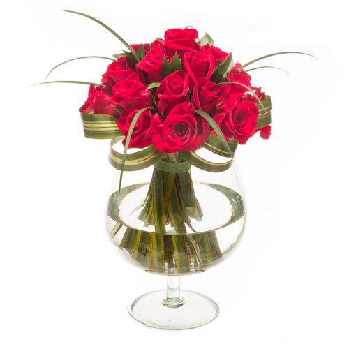 Undying Devotion Red Rose Arrangement