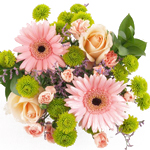 Sunflowers and Gerbera Daisies Bridal Centerpieces