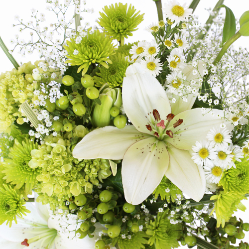 Wedding Decor Fresh White Flowers