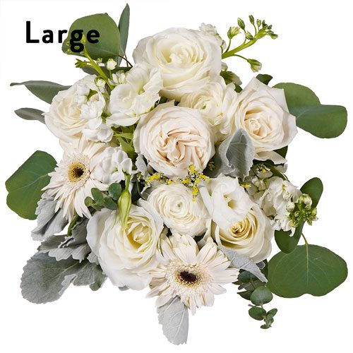 White Bulk Centerpiece