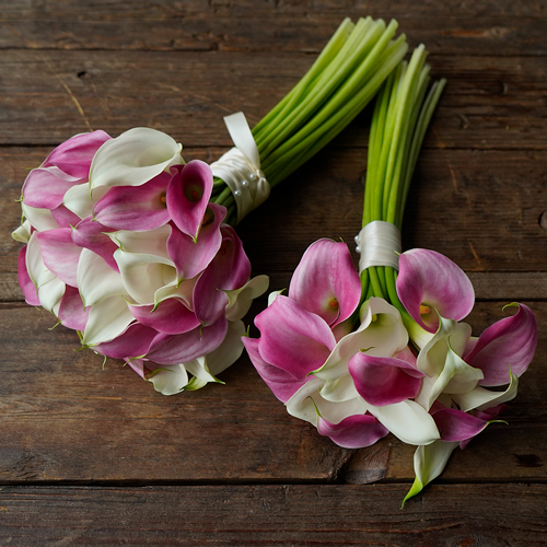 Pink and White Mini Calla Bouquet
