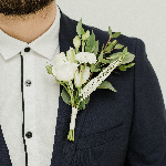 White Wedding Flower Boutonniere