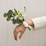 White Wedding Flower Corsage