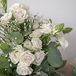 Charming White Fresh Flower near me