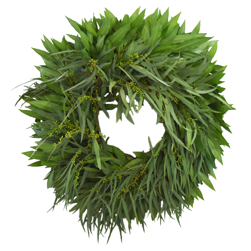 Willow Seeded Eucalyptus Bayleaf Fresh Wreaths