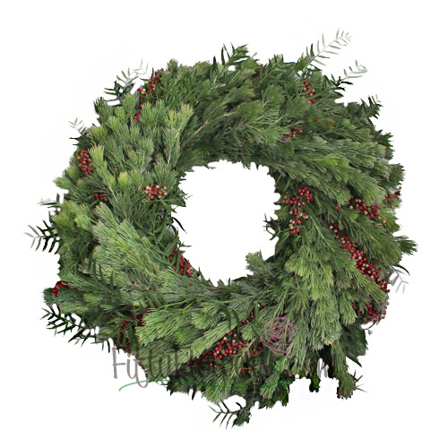 Fresh Woolly Bush and Pepperberry Wreaths