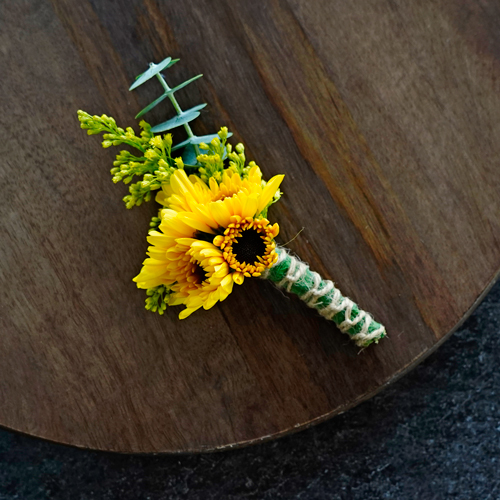 Rustic Sunflower Boutonnieres