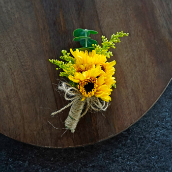 Rustic Sunflower Corsages