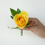 Wedding Flower Packs Boutonniere and Corsages Roses Yellow
