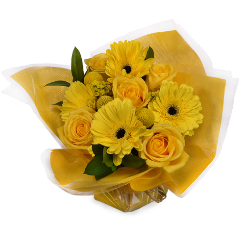 Monochromatic Yellow Bouquetta Centerpieces