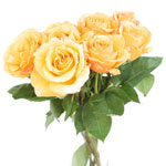 Antique Yellow Garden Wholesale Roses In a vase