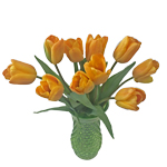 Apricot Fox Yellow Wholesale Flower In a vase