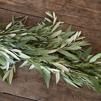 Bay Leaf and Rosemary Greens Garland