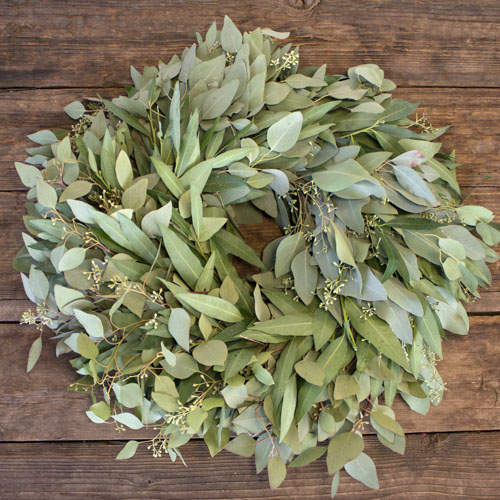 Bay Leaf and Seeded Eucalyptus Wreaths