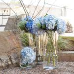 Blue Hydrangea Wholesale Flower Trio In a vase