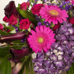 Bold Dreams Pink and Purple DIY Flower Centerpieces in a vase